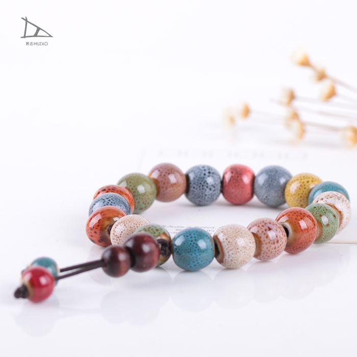Transport bead folk style wholesale ceramic seed beads jewelry bracelet for lovers