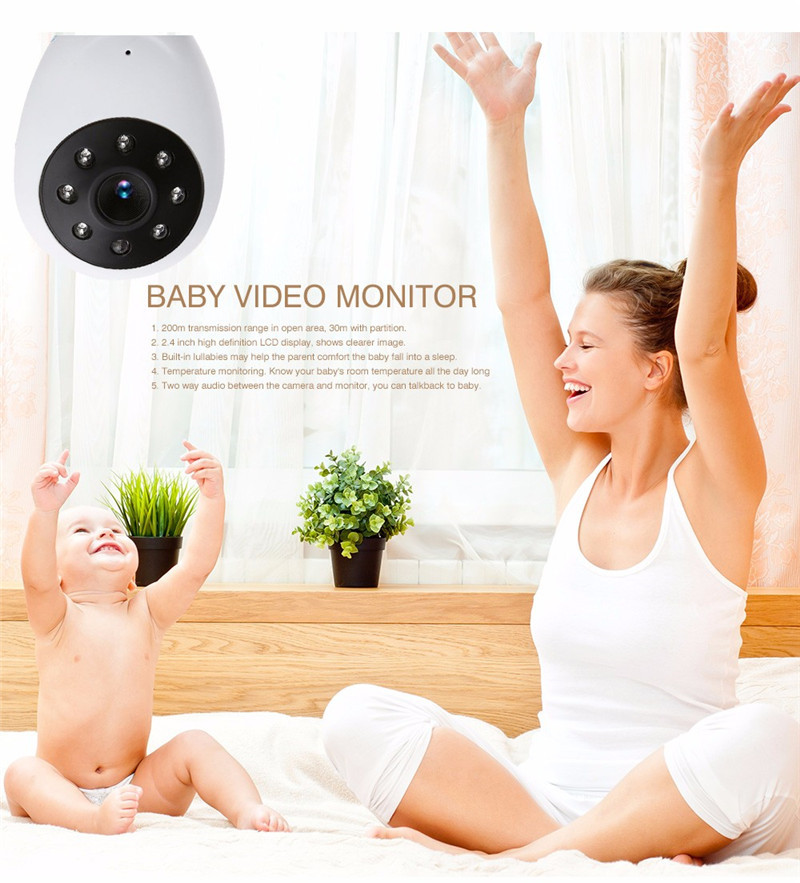 SP880 Wireless Camera Baby Monitor Night Vision Two-way Talk Intercom Sleep Monitor Temperature Display Radio Nanny