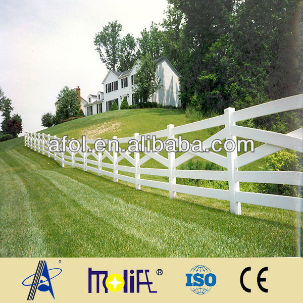 Zhejiang AFOL new design security pvc ranch fence crossbuck fence