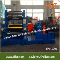 Dalian Brand rubber two roll open mixing mill manufactured by Dalian Rubber Compound Mixing Machine
