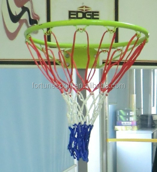 OEM Wholesale PP Tri-color Basketball Net Made in China