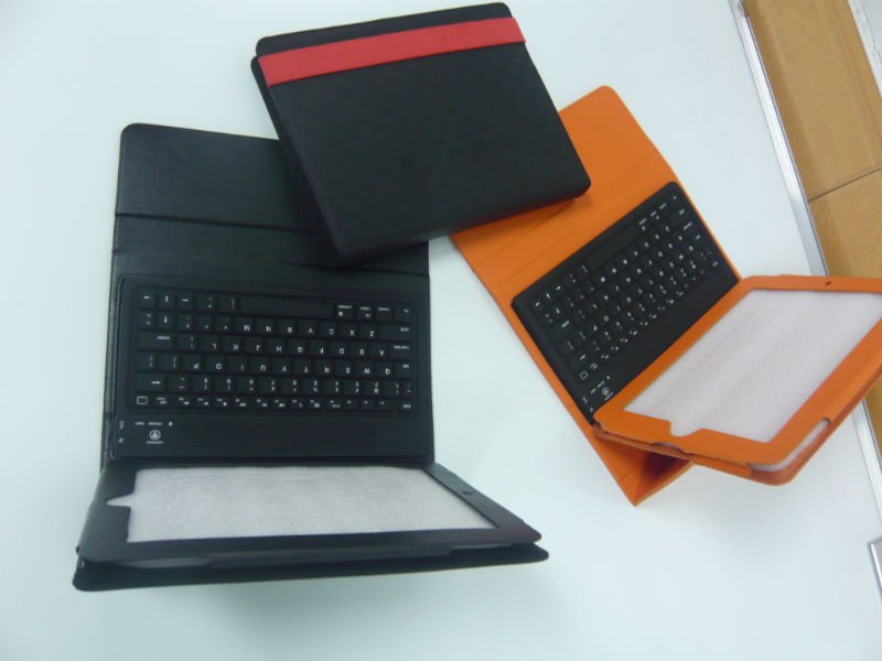 silicone flexible bluetooth keyboard for ipad with leather case
