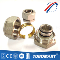 20 years manufacturer DZR / CW617N / CW602N brass end cap screw fitting for pex-al-pex pipe