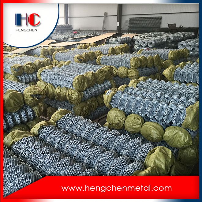 Industrial Pvc Coated Galvanized Wire Chain Link Fence