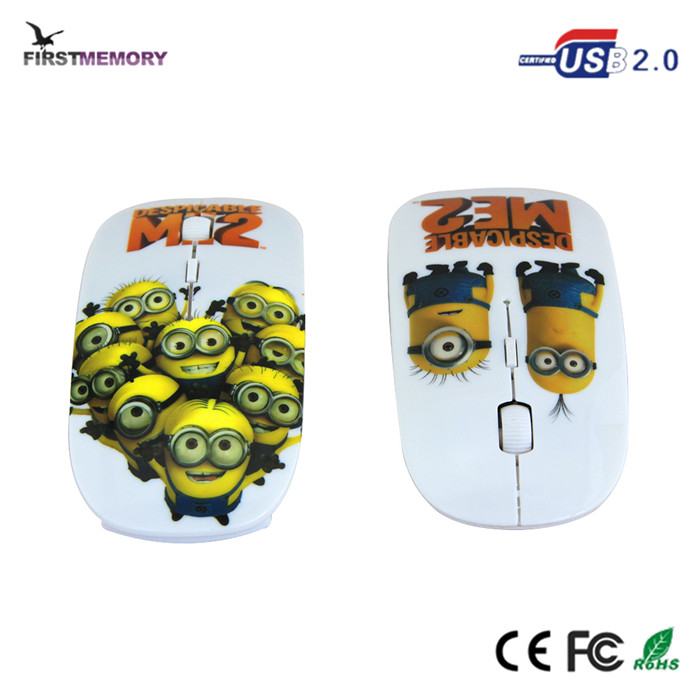 Despicable Me2 Minions 4D Ural slim wireless mouse rf2.4g for kids