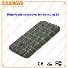 Mobile phone Accessories for Samsung S5 cell phone case (PC+ Fabric)