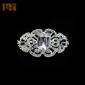 Manufacturer Wholesale Alloy fashion rhinestone brooch diamante silver brooch for sale