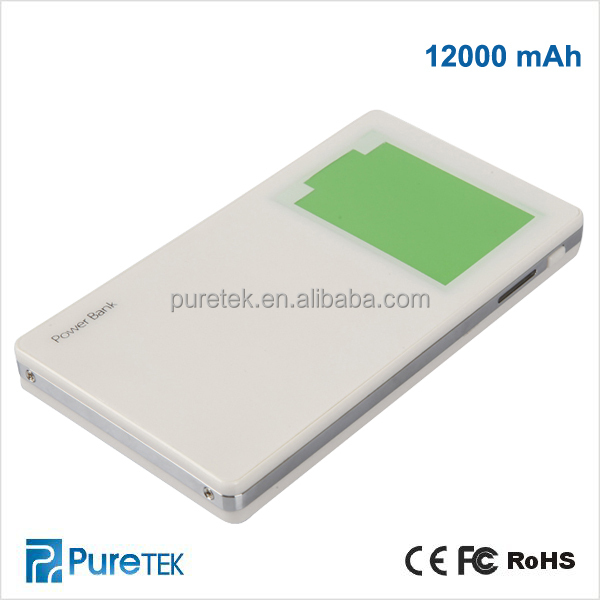 12000mAh Mobiles Power Bank Chargers, Power Bank For Handphone, Power Bank Factories In China
