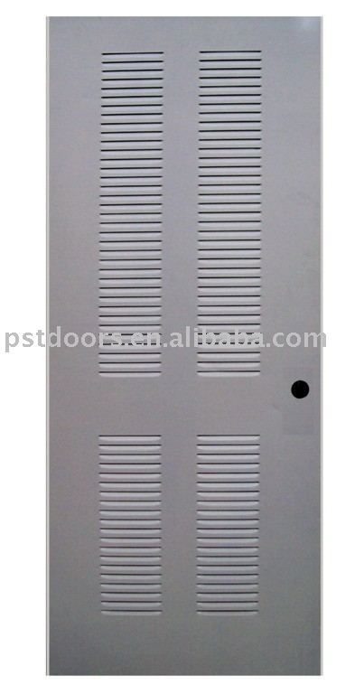 interior metal louver door, galvanized steel louver door for room use