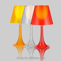 acrylic office double shade table lamp E27 holder