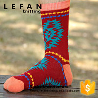 Custom colorful design business 100 cotton dress socks men