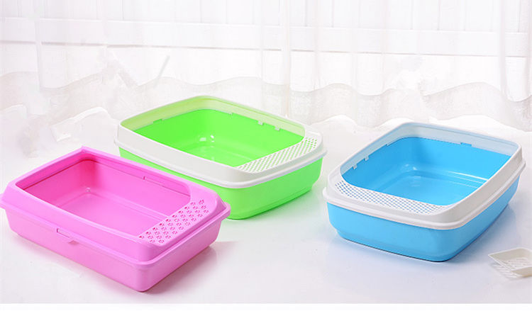 New product Pet premium anti spill indoor pet toilet cat litter box