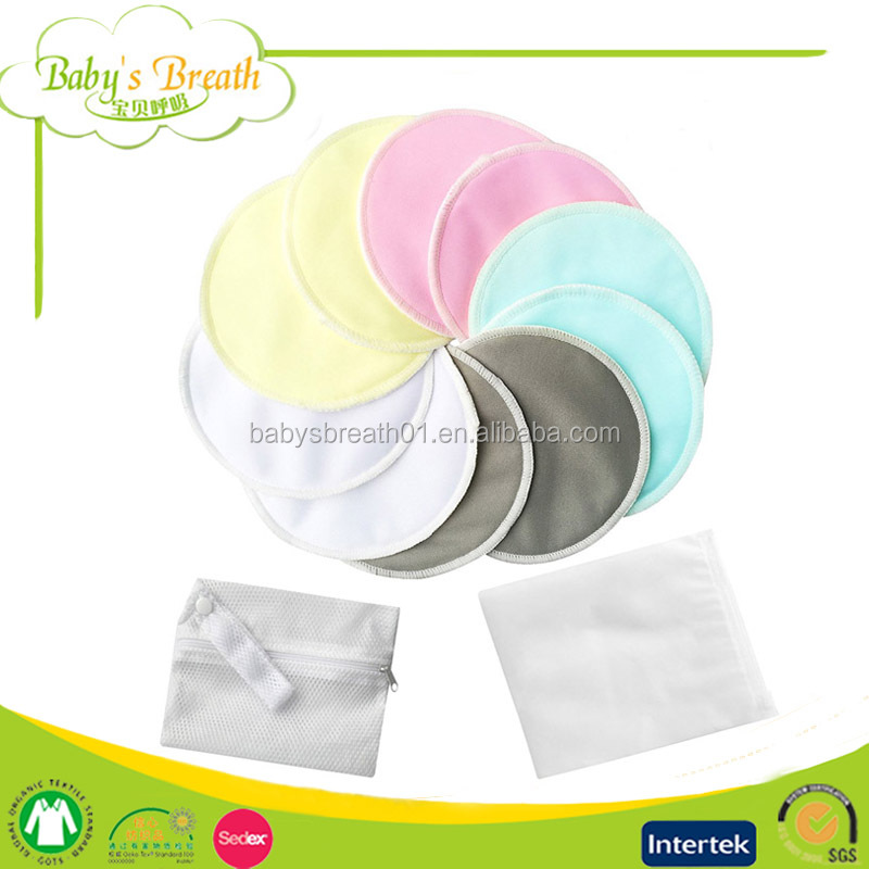 BCD006 Washable Organic Bamboo Nursing Pads Reusable Spill-proof Breast Feeding Pads
