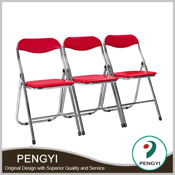 Chrome Frame Folding conference chair price,stackable conference chair PY243