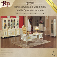 classic home office furniture - solid wood hand carving study room set