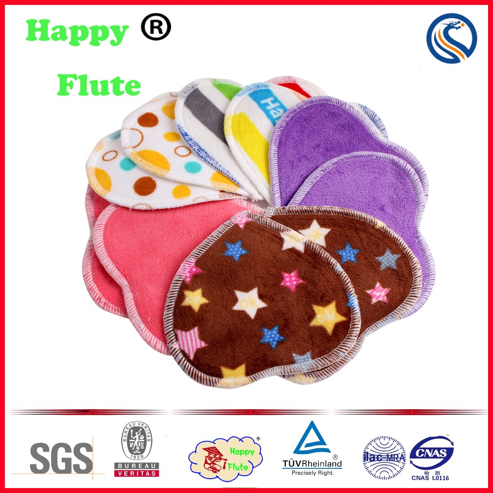 Happyflute bamboo heart shapemama cloth pads breast feeding nursing pads factory