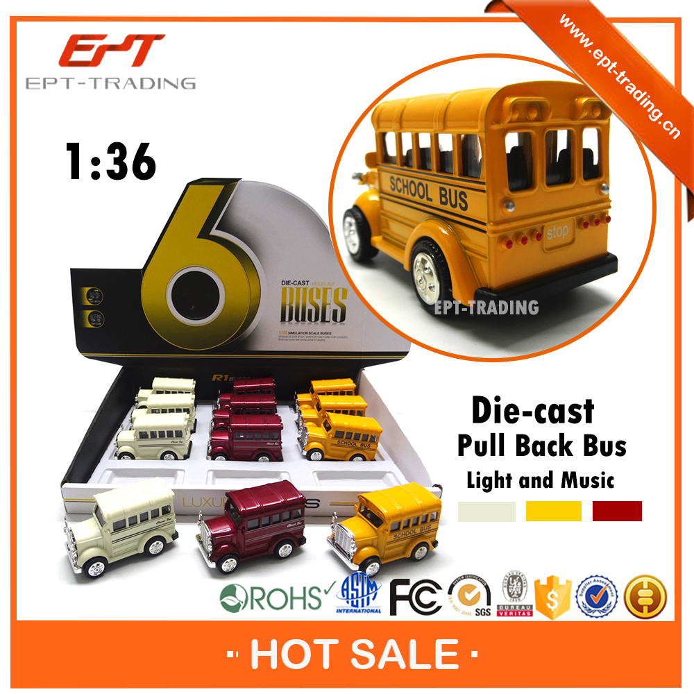 China wholesale 1 36 pull back mini diecast school bus for sale