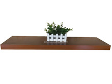 MDF Display Floating Wall Shelf With Hidden Mental Support Bracket