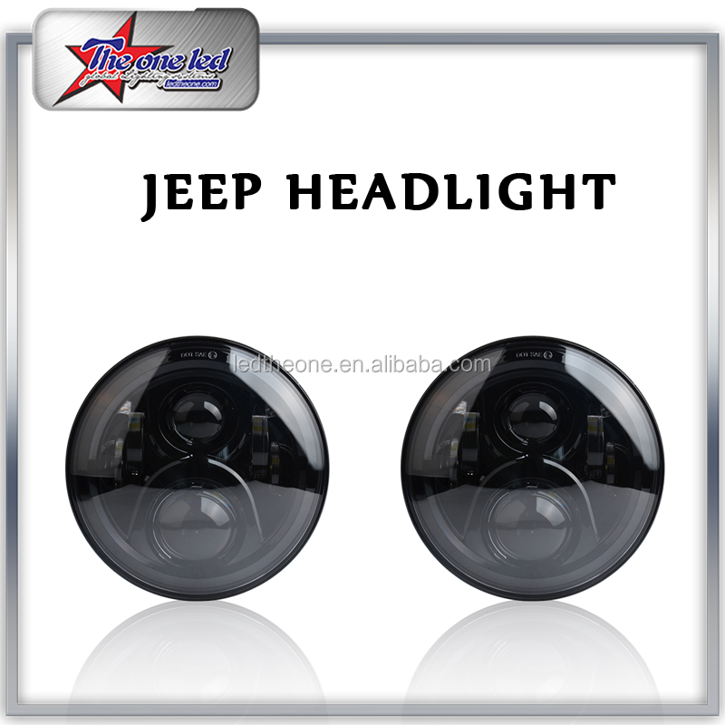 BM-7145 Round Jeep Headlights High/Low Beam Projection Lens Headlamp 7 Inch LED headlight for Jeep