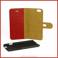 PC+PU Red Leather 2 in 1 case for iPhone6/6s