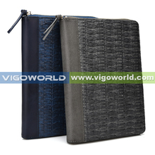 zipper clutch bag universal zipper case for ipad mini with stand and card slots /paper pocket