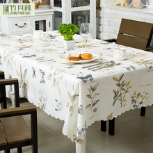 100% Polyester Dining Waterproof Butterfly Pastoral Style Home Table Cover