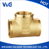 Hot High quality three way insert threaded connection brass fittings from Chinese manufacturer (VG-F21031)/prestolok push-in fit