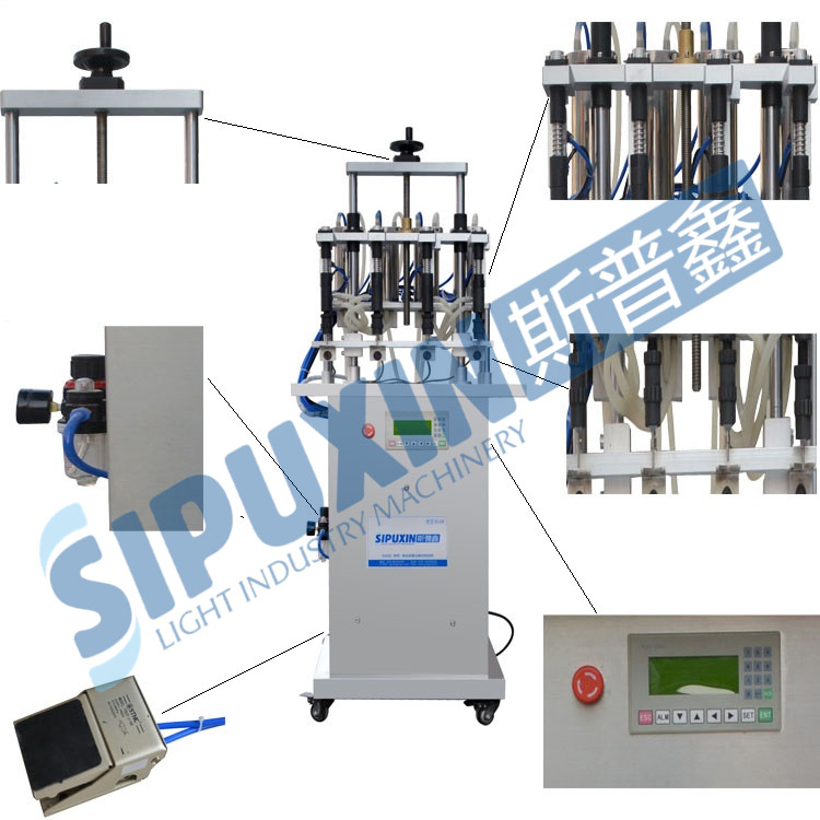 SPX Four Nozzles Perfume Filling Machine Manufacturer For Perfume Glass Bottle