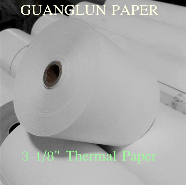 "Single-Ply Thermal Paper Rolls, 3 1/8"" x 230 ft, White, 10/Pack Jetland 80mm x 80mm"