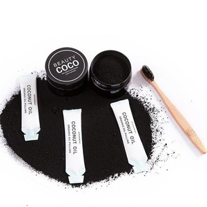 Organic Coconut Activated Charcoal And Bentonite Natural Teeth Whitening Charcoal Powder