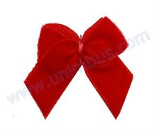 small red velvet ribbon bow for garments