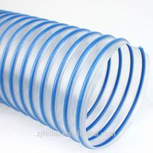 PVC Flexible corrugated plastic tubing PVC coated steel wire reinforced hose