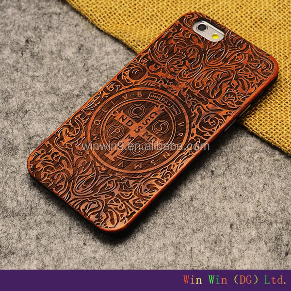 2016 Stylish wooden fashion design laser engraving smart phone case wood factory price cheap mobile phone case for iphone 6 plus