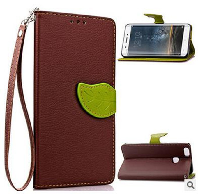 mobile phone case accessory leather brown cover for vivo y28
