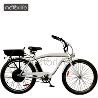 MOTORLIFE/OEM fair price 48V 1000W electric cycle, beach cruser e-cycle