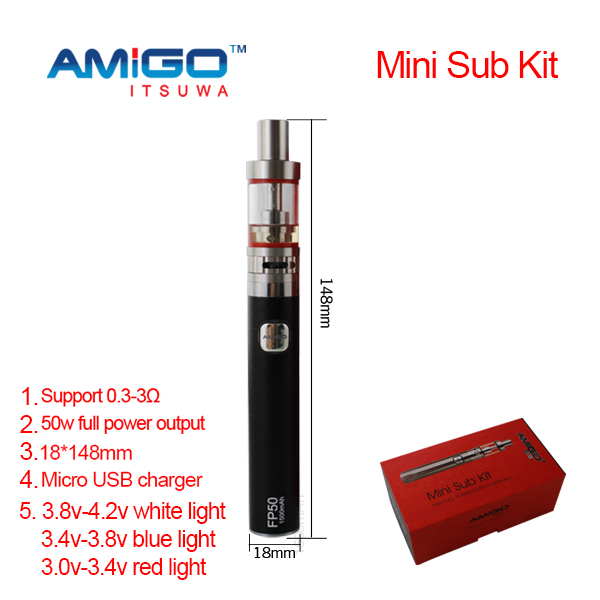 E-cig 1500mah rechargeable battery vape mod