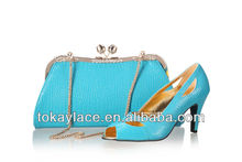 sexy turkey blue Italian wedding shoes woman 2013 with rhinestone