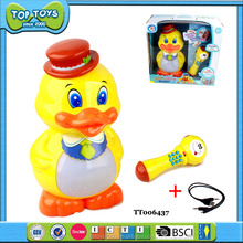 BO Pink Duck With Mic And USB Musical Light Toys For Kids Educational