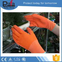 Colorful industrial heavy duty machinist working rubber gloves