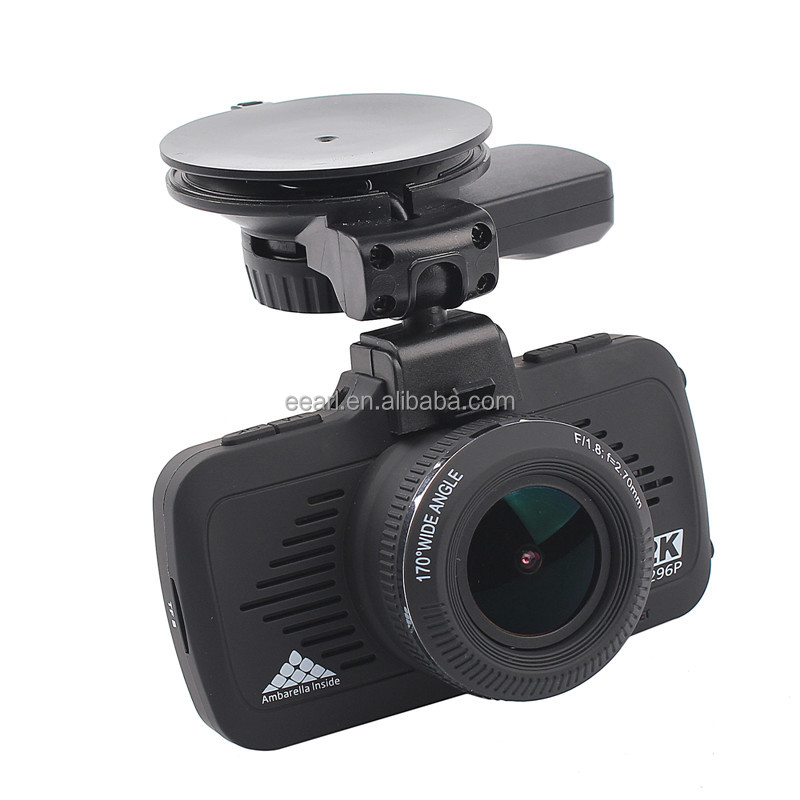1296P DVR Car Camera GPS Ambarella A7 In Car Camera With Speed Alarm