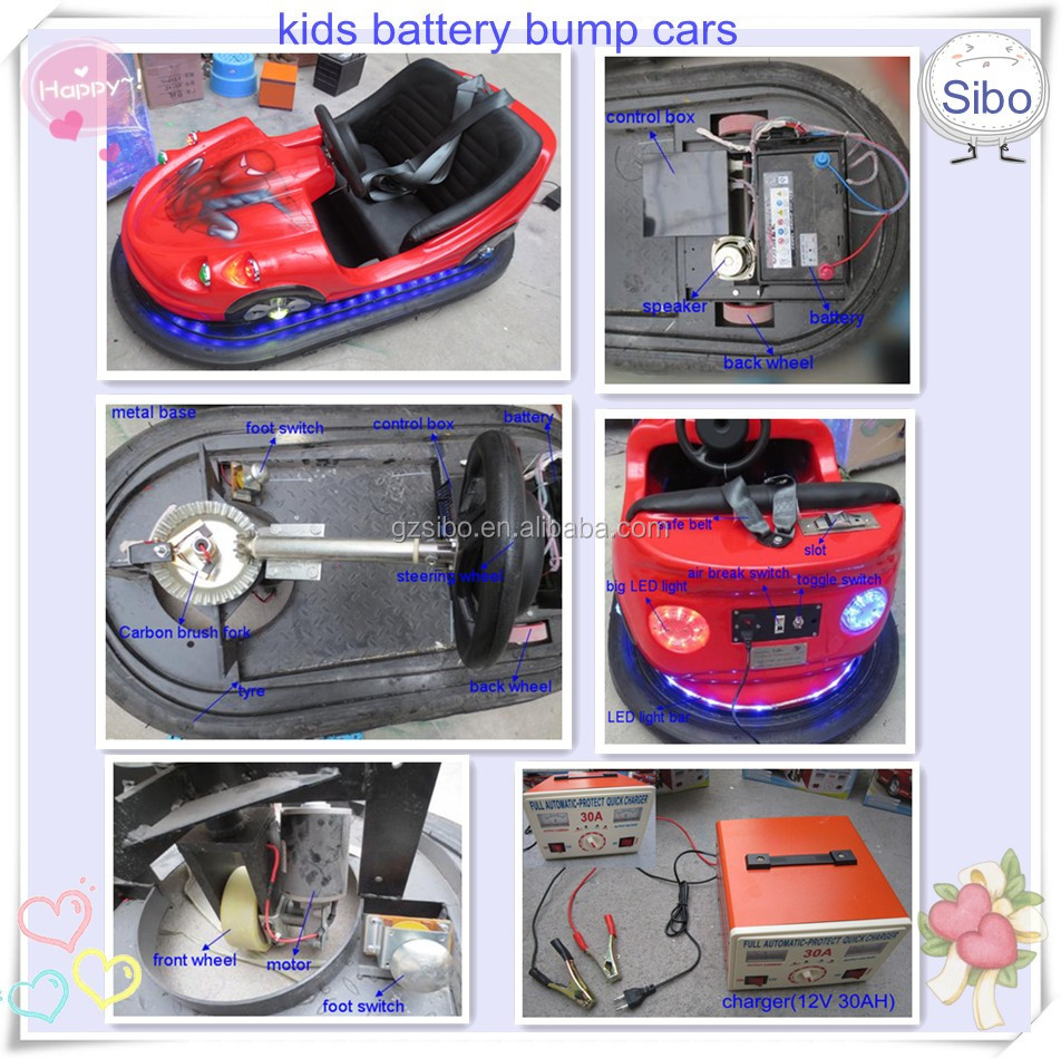 GMBC low price india coin operated game machine battery bumper car motor