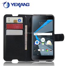 PU Leather Wallet Card Stand Flip Case Cover For BlackBerry DTEK50 with stand fuction