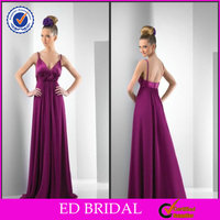 Country Charmeuse Cowl Neck V-Neckline A-Line Bridesmaid Dresses With Flower Embellished Waist