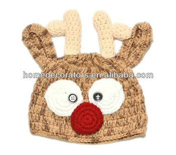 Christmas hat Crochet Reindeer Hat