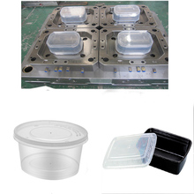disposable transparent plastic food container/box/packaging injection mold / mould