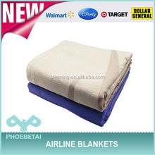 Super light disposable fleece airline blanket