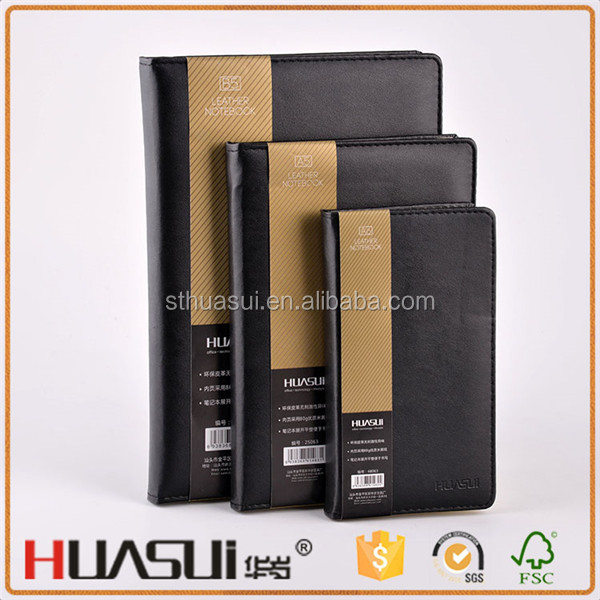 China supplier wholesale recycling pu leather hard cover school note book
