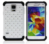 Keno S5 Full Star Hybrid Case Hard Plastic and Soft Silicone Case for Samsung Galaxy S5 i9600