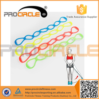 Wholesale Colorful Jelly GYM Fitness TPR Resistancce Band Set