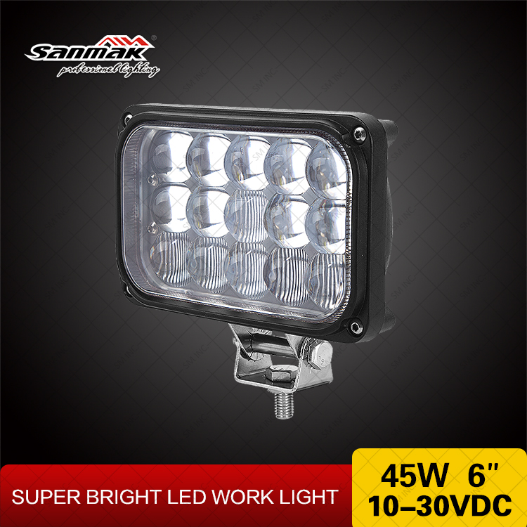 "4x6 45w LED head lamp wasserdicht IP67 pmma lens car led work light wholesale 4x6"" headlight led motorcycle"